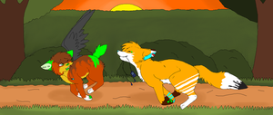 Tiger and Fox by CinderIzAwesome