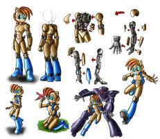 Metal Sally doodles: Colored by zeiram0034