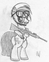 Military Pony OC by drawponies