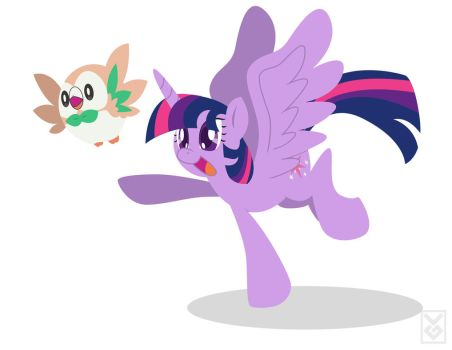 Rowlet and Twilight by Inspectornills