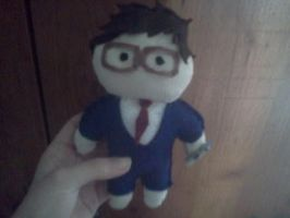 David Tennant Plushie { I REGRET NOTHING } by Spooneh21