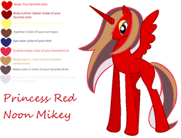Princess Red Noon Mikey :MLP Mary Sue OC: by Phenom-Jak