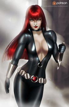 Black Widow  - optional NSFW on Patreon by evandromenezes