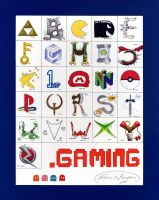 Gaming Alphabet by BluDrgn426