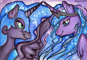Two sides of the same coin ACEOs by reaperfox