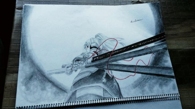 anime drawing  by shiviumeshh