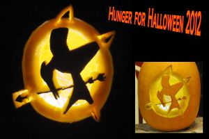 Halloween Hunger Games Pumpkin by SteamPunkDragonCat