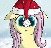Christmas Fluttershy by Wave-Realm