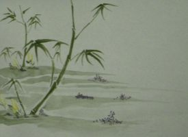 Flowers and Bamboo by D905
