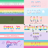 pride month headers by DeathsCallingCard