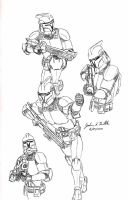 Clone Trooper Pose Sketches 2 by Tribble-Industries