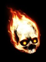 Burning Skull by Amartia