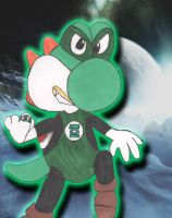 Green Lantern Yoshi Background. by Crimson-Werecat