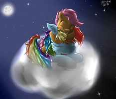 Rainbow and Scootaloo by Estaliz