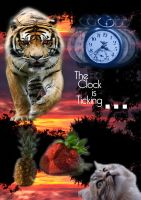 One Cat, One Fruit, One Clock by sophierevell