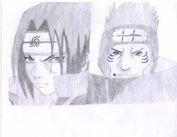 Itachi and Kisame by PyroBarrage