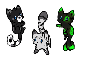 3 kitty adopts (onlyone left!) by Silversadopts