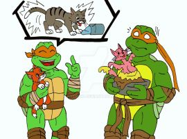 TMNT: 2k3 Meets 2k12: Mikey by xero87