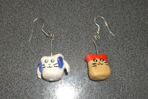 Hamtaro and Bijou Earrings by kratosisy
