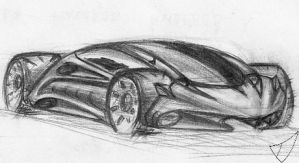 One of my first car sketches in 2013 by ValodyAndrew
