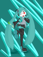 Hatsune Miku Warnerized by to-lazy-for-username