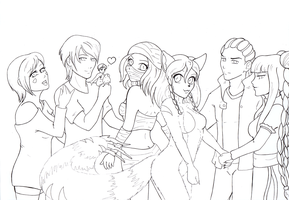 Commission: Heroes WIP by pink-gizzy