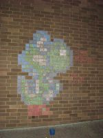Chalk Yoshi by liverspoon