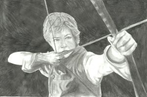Eragon with bow by brittanyandalvin