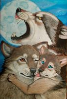 Wolf Family by NatsumeWolf