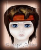 .:Sad Child:. Painted by ineptartist
