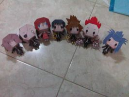 kingdom hearts papercraft by margarethere