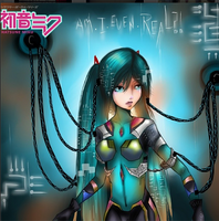 .:Hatsune Miku:. Am I even real..? by Amai-Gee