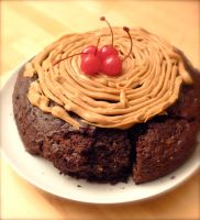 Coffee Chocolate Cherry Cake by nfaas
