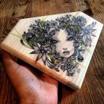 Verdant original on wood by lalalandofclouds