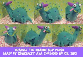 Crackle the Dragon MLP Plush by SowCrazy