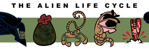The Alien Life Cycle by Cool-Hand-Mike