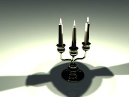 Candelabra 3D Model by Natnie