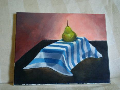 pear on stripes by leisoleil