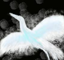 Crane Patronus by RockinRavenclaw
