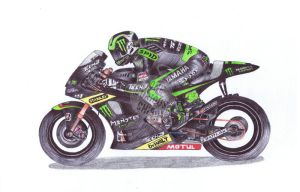 Cal Crutchlow, 35, Ballpoint Pen by onecuriouschip