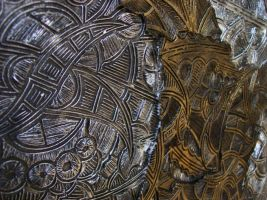 Dreamtime - Ceramic Discus 9 Detail by ArtGenEeRing