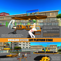 MMD VOCALOID SYSTEM LIFT PLATFORM STAGE by Trackdancer