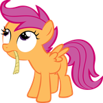 Scootaloo Eating Rope by zachgamer77
