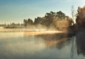Morning fogs by DeingeL
