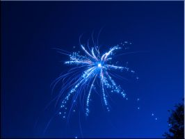 Blue Firework Contest Entry 2 by WDWParksGal-Stock