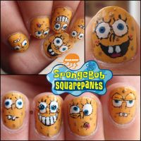 spongebob nails3 by Ninails