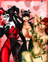 Meet the DC Villainesses by JassyCoCo