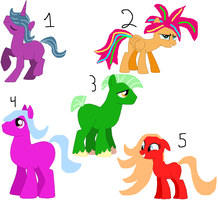 Picture Adoptables: Ponies Batch 3 by Literate-Adopts