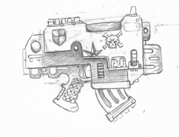 Bolt Pistol with Combi-Melta by DWaffle