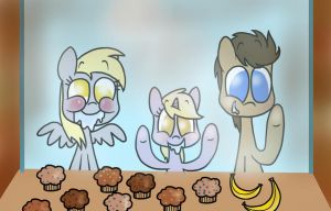 muffins and bananas by mariatamayothewierdo